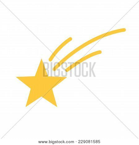 Shooting Star Isolated On White Background. Vector Stock.
