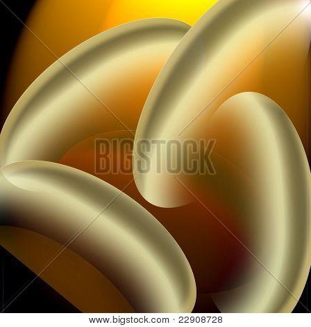Golden ring shapes background