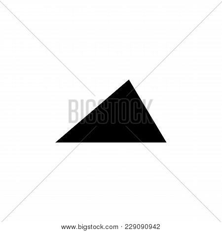 Acute Triangle Icon. Elements Of Geometric Figure Icon For Concept And Web Apps. Illustration  Icon