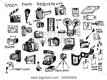 Hand Drawn Microstock Symbols