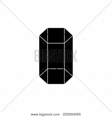 Hexagonal Prism Icon. Elements Of Geometric Figure Icon For Concept And Web Apps. Illustration  Icon