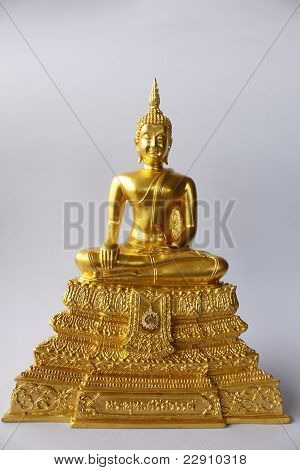 Gold Image Buddha Isolate