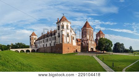 Mir, Belarus - August 04, 2016: Ancient Medieval Fortress In Mir, Belarus. Mir Castle Is A Museum An