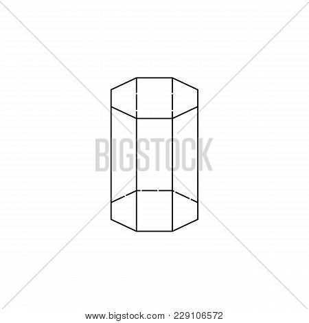 Octagonal Prism Icon. Geometric Figure Element For Mobile Concept And Web Apps. Thin Line  Icon For