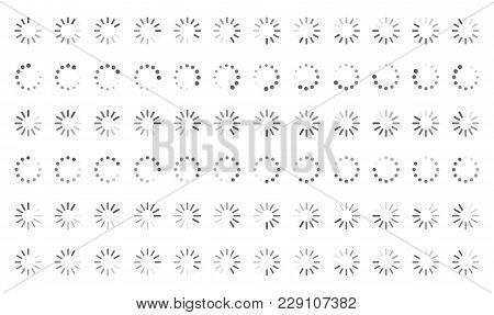 Loading Icons, Load Indicator Sign, Waiting Symbols