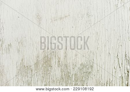 Textured Background Wooden Surface Painted With Water-emulsion Paint With Small Cracks In Time. Rust