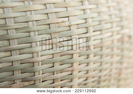 Close Up Bamboo Weave Texture Background. Bamboo Weave Pattern
