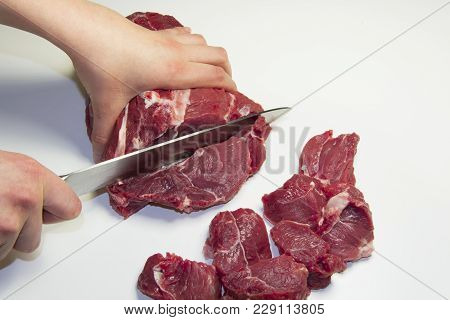 Sheep Meat, Mutton Fresh Raw Fat Muscle