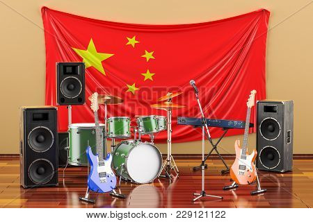Music, Rock Bands From China Concept, 3d Rendering