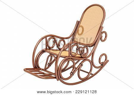 Rocking Chair, 3d Rendering Isolated On White Background