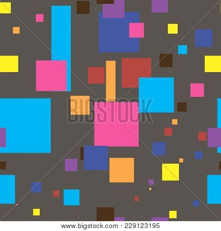 Colorful Square Seamless Pattern. Abstract Background. Eps 10