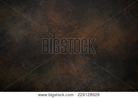 Rusrty Background. Brown Texture Dark Slate Stone Background. Concrete Surface.