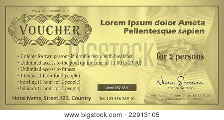 vector Voucher gold coupon