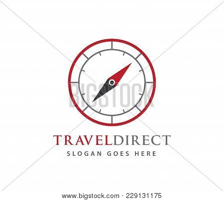Compass Wind Rose Travel Adventure Direction Navigation Vector Logo Design