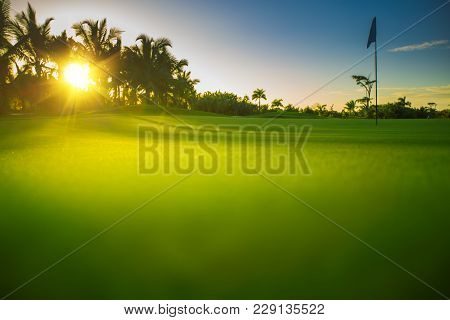 Golf Course In The Tropical Island. Punta Cana, Dominican Republic