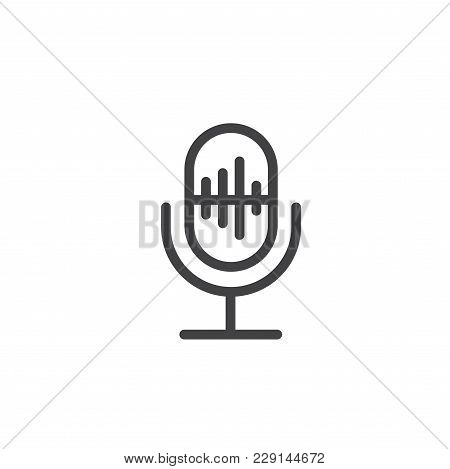 Generic Microphone Symbol Showing Audio Or Ai Voice Recognition