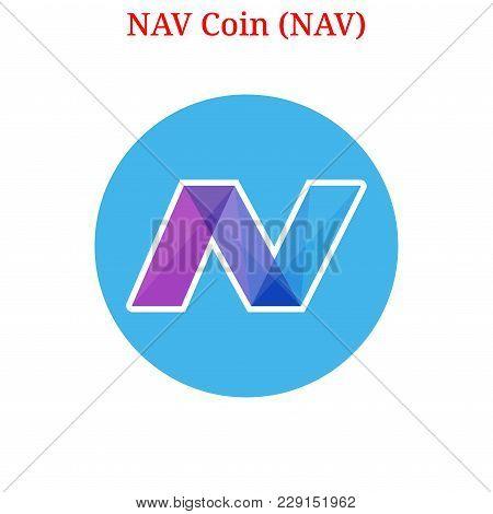 Vector Nav Coin (nav) Digital Cryptocurrency Logo. Nav Coin (nav) Icon. Vector Illustration Isolated
