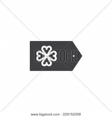 Saint Patrick's Day Gift Tag Vector Icon