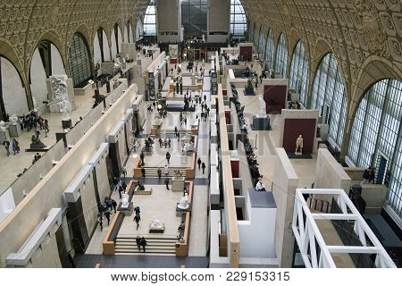 Paris, France - 24 March, 2016: Interior View Of Musee D'orsay.