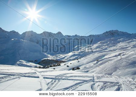 Winter in Swiss Alps