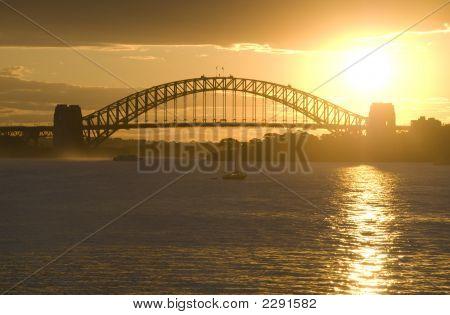 Sunsets On Sydney Harbor Bridge