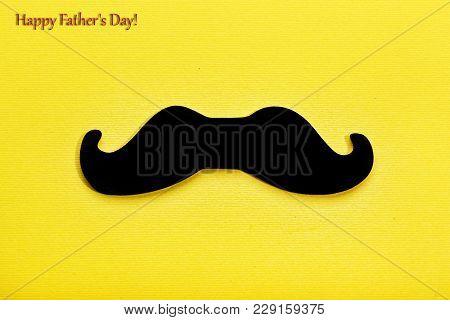 Father's Day, Minimalism, Black Mustache, Man's Mustache, Yellow