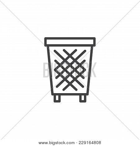 Trash Bin Outline Icon. Linear Style Sign For Mobile Concept And Web Design. Recycle Bins Simple Lin