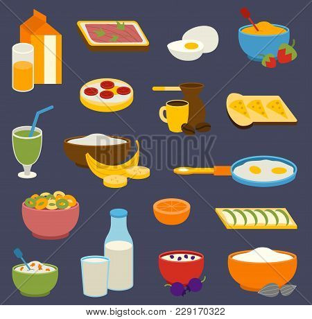 Healthy Nutrition Breakfast Proteins Fats, Carbohydrates Balanced Sport Morning Everyday Diet, Cooki