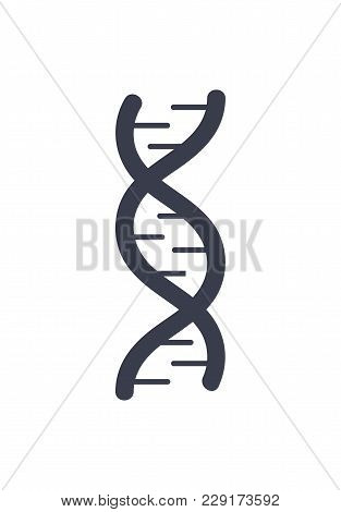 Dna Deoxyribonucleic Acid Chain Logo Design In Black And White Colors, Dna Logotype Of Nucleotides C