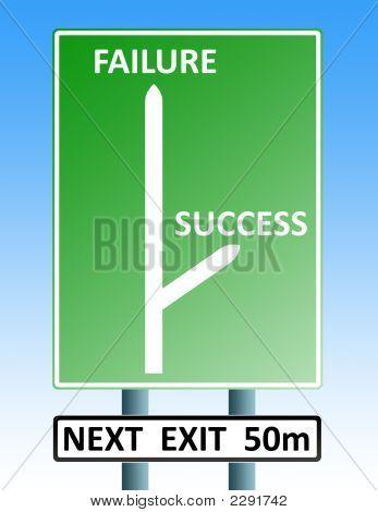 Success Failure Roadsign