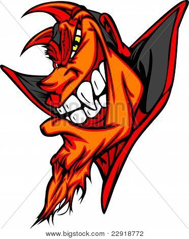 Demon Mascot Head