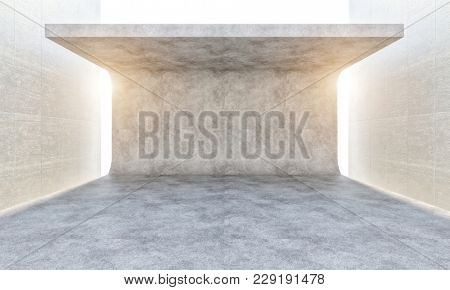 abstract concrete structure 3d rendering image