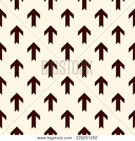 Simple Modern Print With Interlocking Arrows. Contemporary Abstract Background With Repeated Pointer