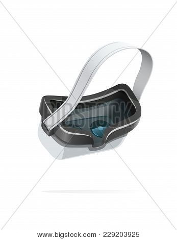 Digital Glasses For 3d Modeling And Virtual Reality. Computer Device For Graphic Art. Isolated White