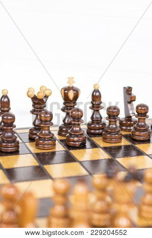 Chess. Chess Board. Wooden Chess Pieces. Strategy