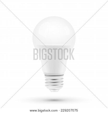 Led Light Bulbon White Background. Vector Illustration. Eps 10.