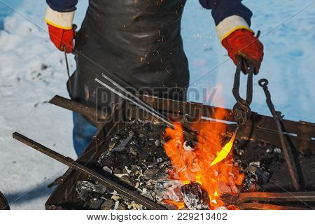 Marching A Smithy- Forging Iron Outdoor