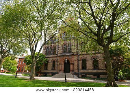Sayles Hall In Brown University, Providence, Rhode Island, Usa.