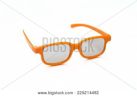 3d Glasses For A Child On A White Background
