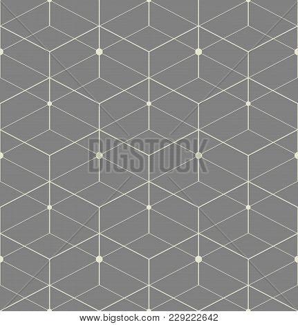 The Geometric Pattern With Lines. Seamless Vector Background. Grey Texture. Graphic Modern Pattern