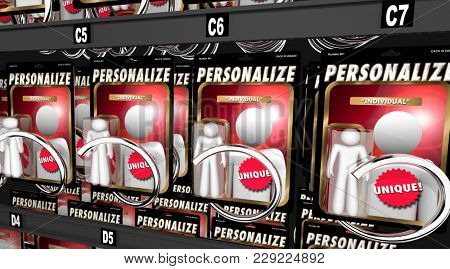 Personalize Custom Individual Action Figure Be Unique 3d Illustration