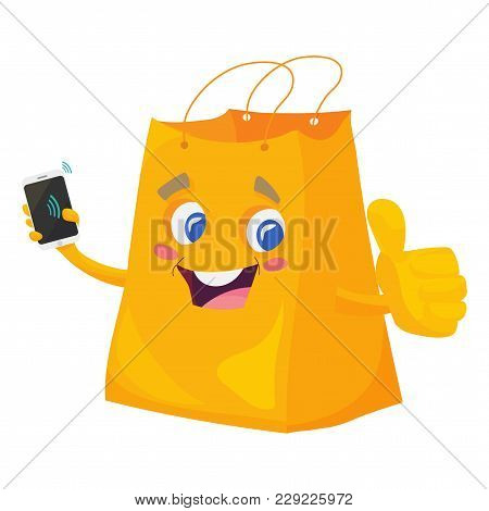 Vector Illustration For Contactless Payments Promotion, Near Field Communication Or Nfc Air Pay: Sho