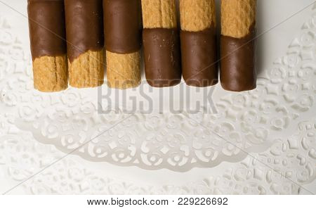 Sweet Yummy Wafer Covered With Dark Chocolate