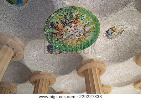 Park Güell Architect Antonio Gaudi In Barcelona