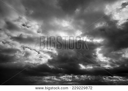 Dramatic Dark Clouds On A Stormy Day