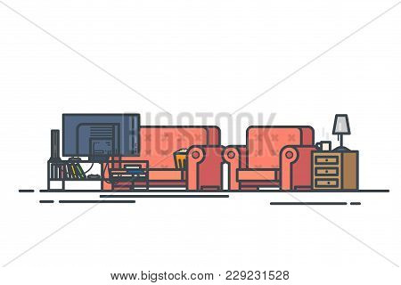 Living Room Chair Vector Photo Free Trial Bigstock