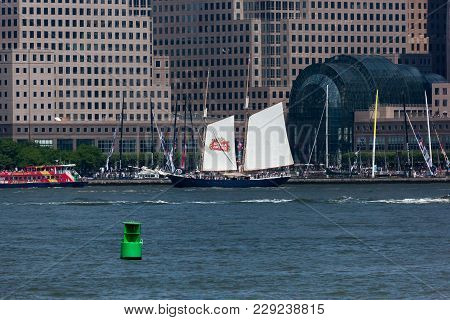 Clipper Tall Ship With Stella Artois Sails