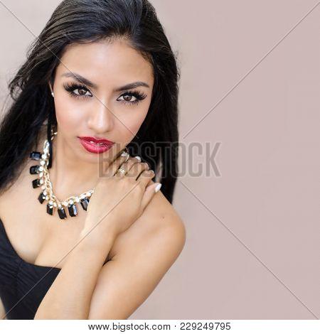 Beautiful elegant exotic woman
