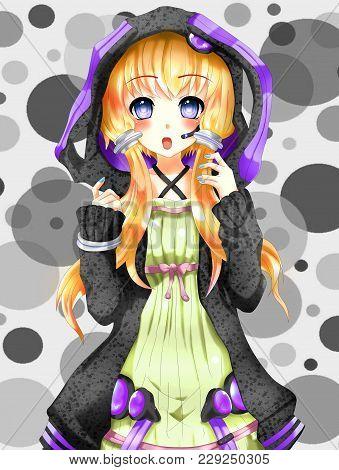Anime Kawaii Fashion Girl, Anime And Manga Style.