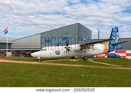 Lelystad, The Netherlands - February 02, 2018: Dutch National Aviation Museum Aviodrome Near Lelysta